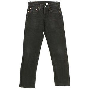 4566-LEVIS-Herren-Jeans-Hose-501-0660-Denim-ohne-Stretch-black-schwarz-29-32