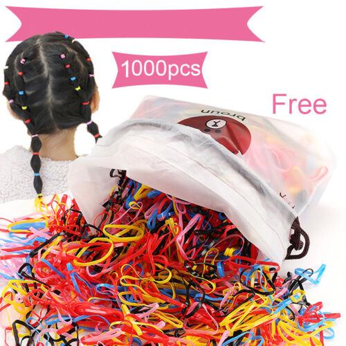 1000Pcs Lot Kids Girl Elastic Rope Hair Ties Ponytail Holder Head Band Hairbands