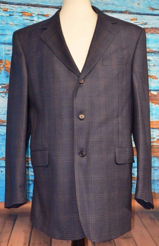 Coppley Sz 43 R Ermenegildo Zegna Fabric 3 Button Blazer Double Vented Canada