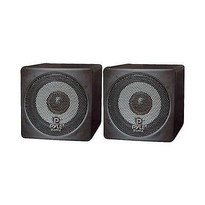 Pyle Home PCB3BK 3-Inch 100-Watt Mini Cube Bookshelf Speakers Pair Black Pair