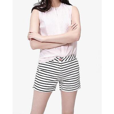 Joules Brooke Shorts in Cream Black Stripe Size 18
