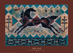 The-Lightning-Snake-Art-Print-by-Cecilia-Henle-Horse-Native-American