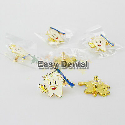 10 pcs Molar Shaped Tooth Pins Brooch Dentist Dental Clinic Great Gift!
