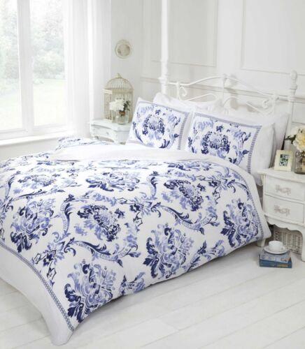 "Blue Duvet Cover /& P//case Quilt Cover Bedding Bed Set Single /& Double /""REDUCED/"""
