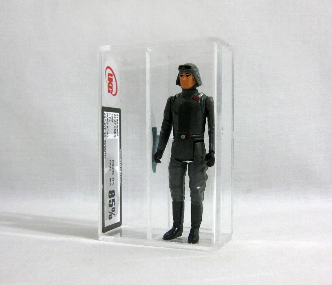 1980 Vintage Star Wars ✧ AT-AT Commander ✧ Kenner Figure UKG 85 90 AFA E21