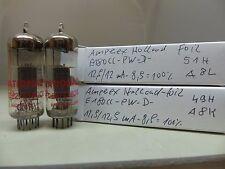 matched Pair RED Amperex E180CC D Getter-Foil Pinched Waist NOS Röhre TUBE 7062