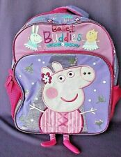 """Scooter Buddies BRAND NEW Licensed Peppa Pig Large 16/"""" inches Rolling Backpack"""