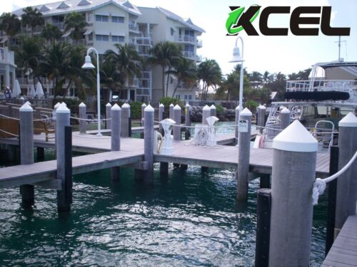 XCEL Polyethylene Dock Piling Cap 10 Inch White Round Cone
