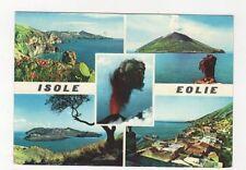Isole Eolie Isola de Lipari Quattrocchi e Vulcano 1961 Postcard Italy 560a