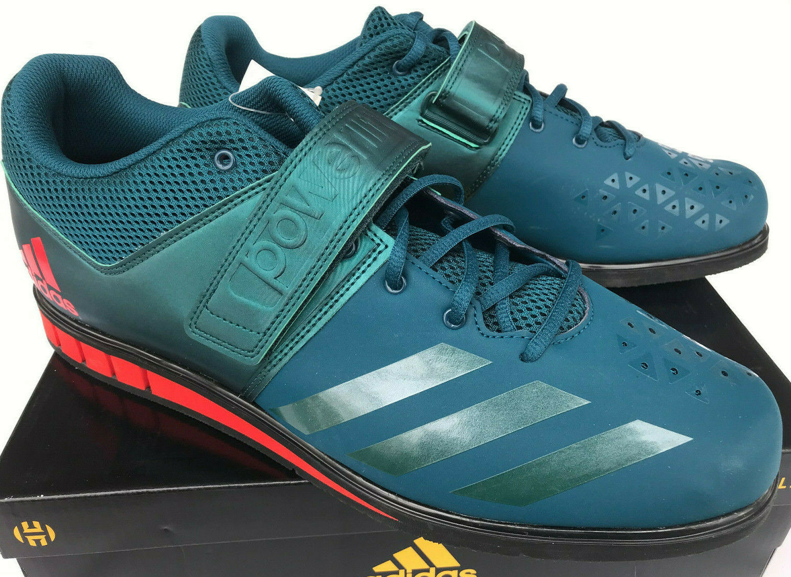 Adidas Powerlift 3.1 Weightlifting BA8014 Arnold USA Petrol shoes Men's 14.5 new