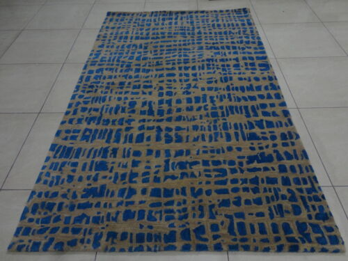 Indian Handmade Tufted Bespoke Custom Modern Wool Carpet Area Rug Kaleen Teppich