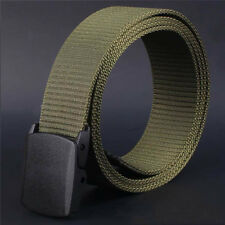 Fashion Wild Men Canvas Belt Hypoallergenic Metal-free Plastic Automatic Buckle