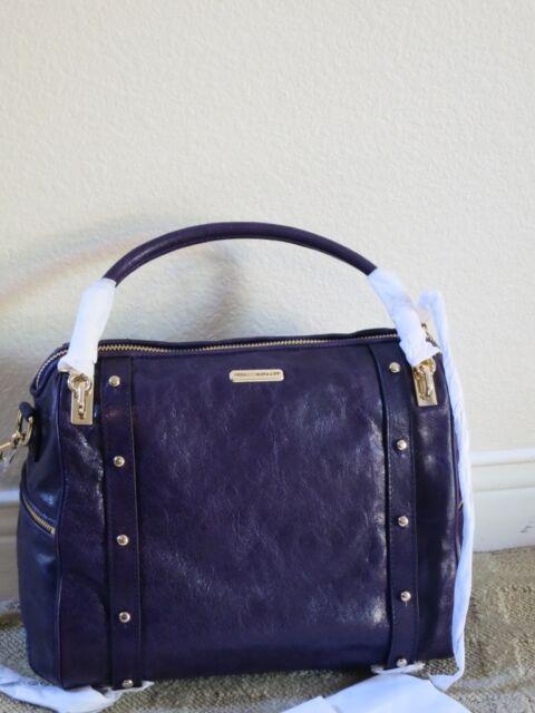 6c0d3fdfd8b3 Rebecca Minkoff Cupid Satchel GRAPE Light Gold 10HILLCHO2 purple purse  handbag