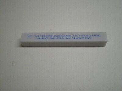 "Norton 86595 Hard Arkansas Square Oilstone File  3/""  HF33"