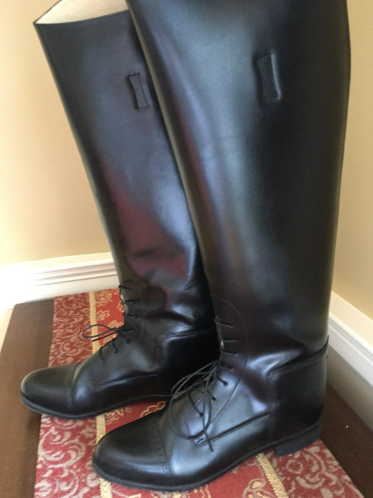 AMAZONAS Super Comfort Tall Lace-Up Equestrian Riding Boots -  Size 10R  considerate service