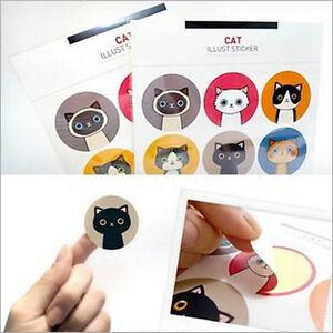 18pcs-Kawaii-Cat-amp-Doll-Paper-Sticker-Decoration-Decal-DIY-Album-Scrapbooking-3E9