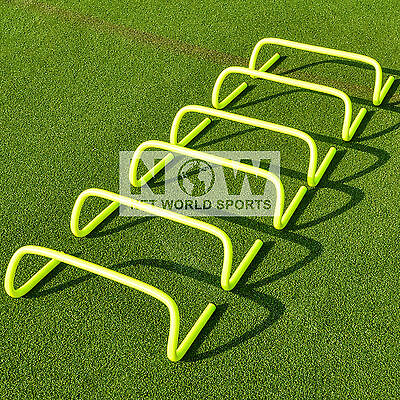Set of 6 Agility Hurdles for Football/Rugby - 6 inch High - [Net World Sports]