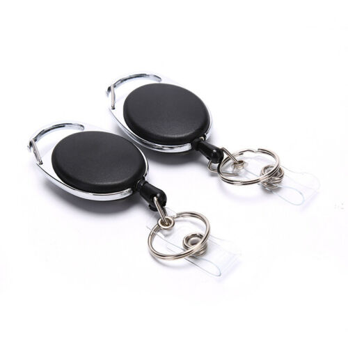 Details about  /Telescopic key chain with back clip easy to pull key buckle