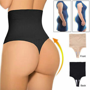 61b7b94bfcda0 Women High Waist Body Shaper Thong G String Tummy Control Invisible ...