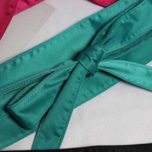 Lady Satin Belt Japanese Obi Wide Kimono Waistband Strap Faux Silk Retro Retro