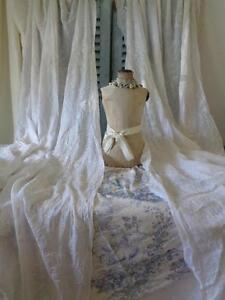 antike vorh nge stickerei frankreich 283 cm lang ebay. Black Bedroom Furniture Sets. Home Design Ideas
