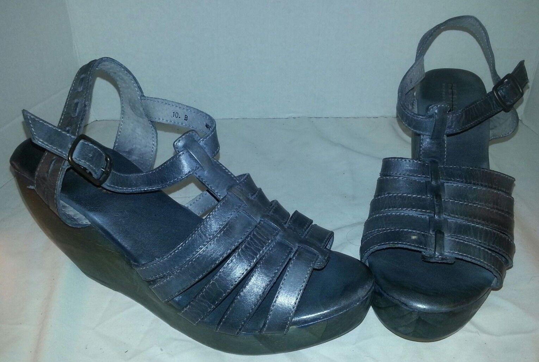 Nueva Cama STU gris pasear Cuero Vacuno Cuñas Zapatos Para Mujer