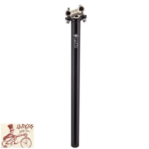 ORIGIN8 PRO-FIT ALLOY 25.4mm x 400mm BLACK MICRO-ADJUST SEAT POST
