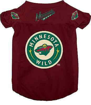 NEW MINNESOTA WILD PET DOG MESH HOCKEY JERSEY ALL SIZES LICENSED