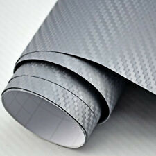 [9,18€/m²] 3m x 152cm Carbon Folie Silber Grau Autofolie Auto LUFTKANAL Car Wrap