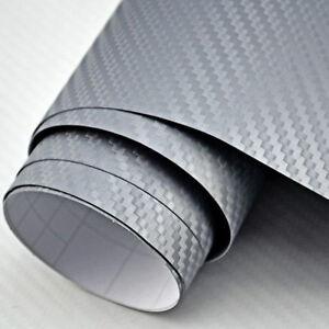 9-18-m-3m-x-152cm-Film-de-carbone-gris-argente-Film-auto-voiture