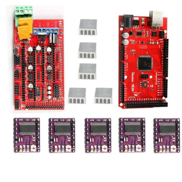 Iduino Mega R3 RAMPS 1.4 Pololu steppper driver DRV8825& heatsink for 3D printer