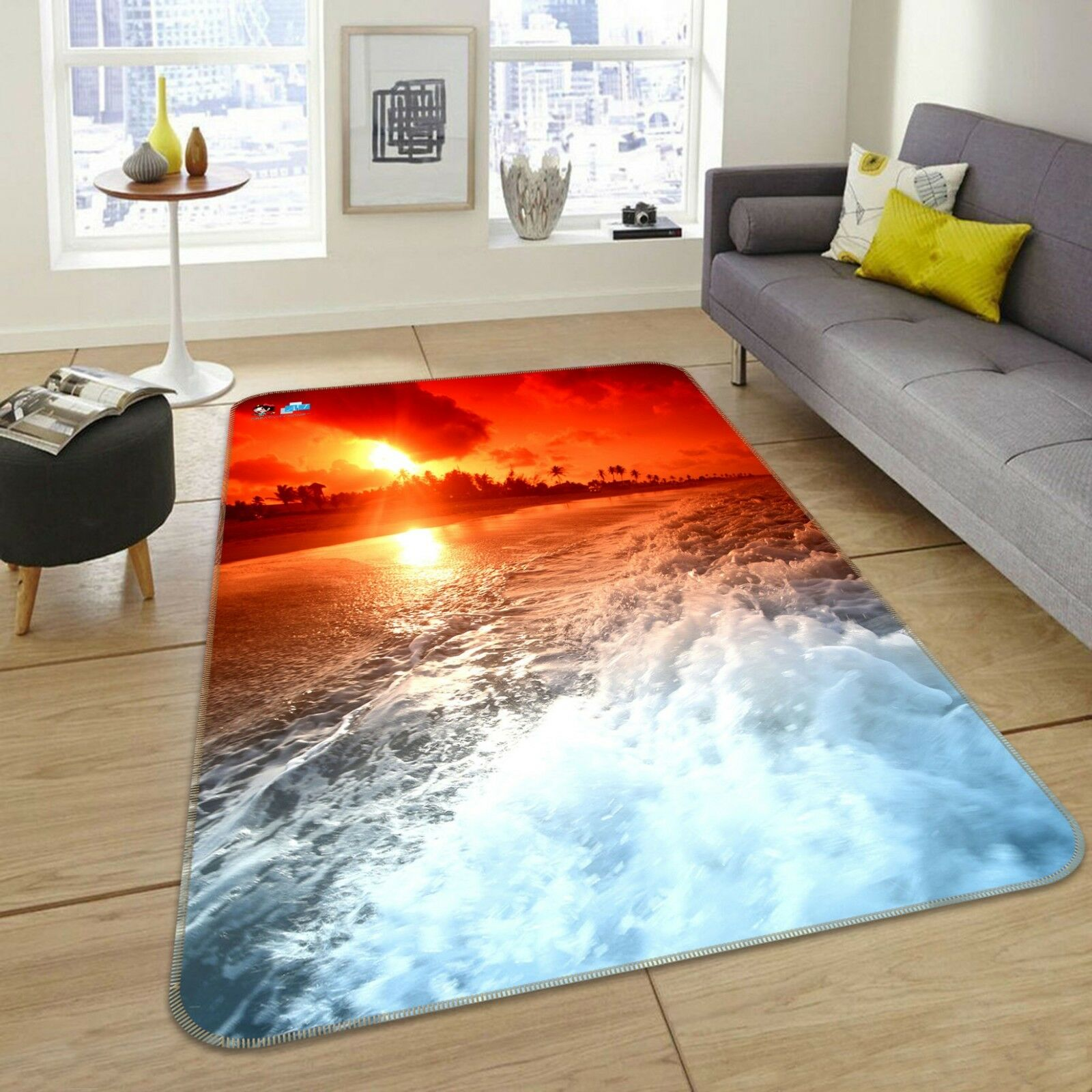 3D Sunrise Waves 688 Non Slip Rug Mat Room Mat Quality Elegant Photo Carpet US