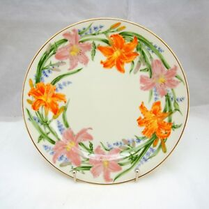 Lenox-FLOWER-BLOSSOM-Suzanne-Clee-DAY-LILY-Dessert-Plate-8-3-8-034-EXCELLENT