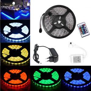 5M-60-SMD-LEDs-Bande-Ruban-LED-Strip-Flexible-RGB-3528-5050-Etanche-Fete-Noel