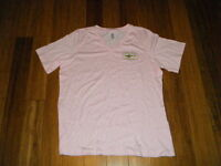 Dogfish Head Pink V-neck T-shirt Xl X-large Breast Cancer Awareness Ladies