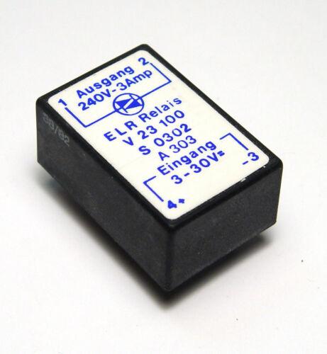 240V // 3A Halbleiter Relais ELR V23100 S0302 A303 3...30 V 80er Jahre NOS
