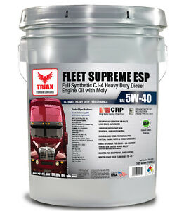 full synthetic truck 5w 40 cj 4 triax fleet ecellion engine oil 5 gal ebay. Black Bedroom Furniture Sets. Home Design Ideas
