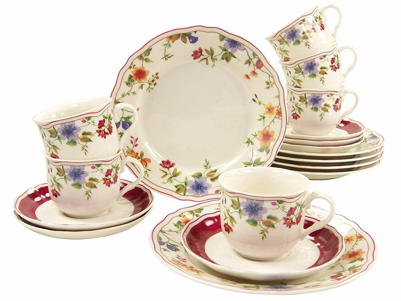 Cornouailles Garden Café Vaisselle 18tlg 6 Personnes Porcelaine Creatable 16140
