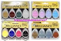 Tsukineko Brilliance Dew Drop Lot Of 16 Pigment Pads = 4 Sets Of 4 Ink Pads