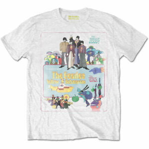 The-Beatles-Yellow-Submarine-Poster-Official-Merchandise-T-Shirt-M-L-XL-Neu