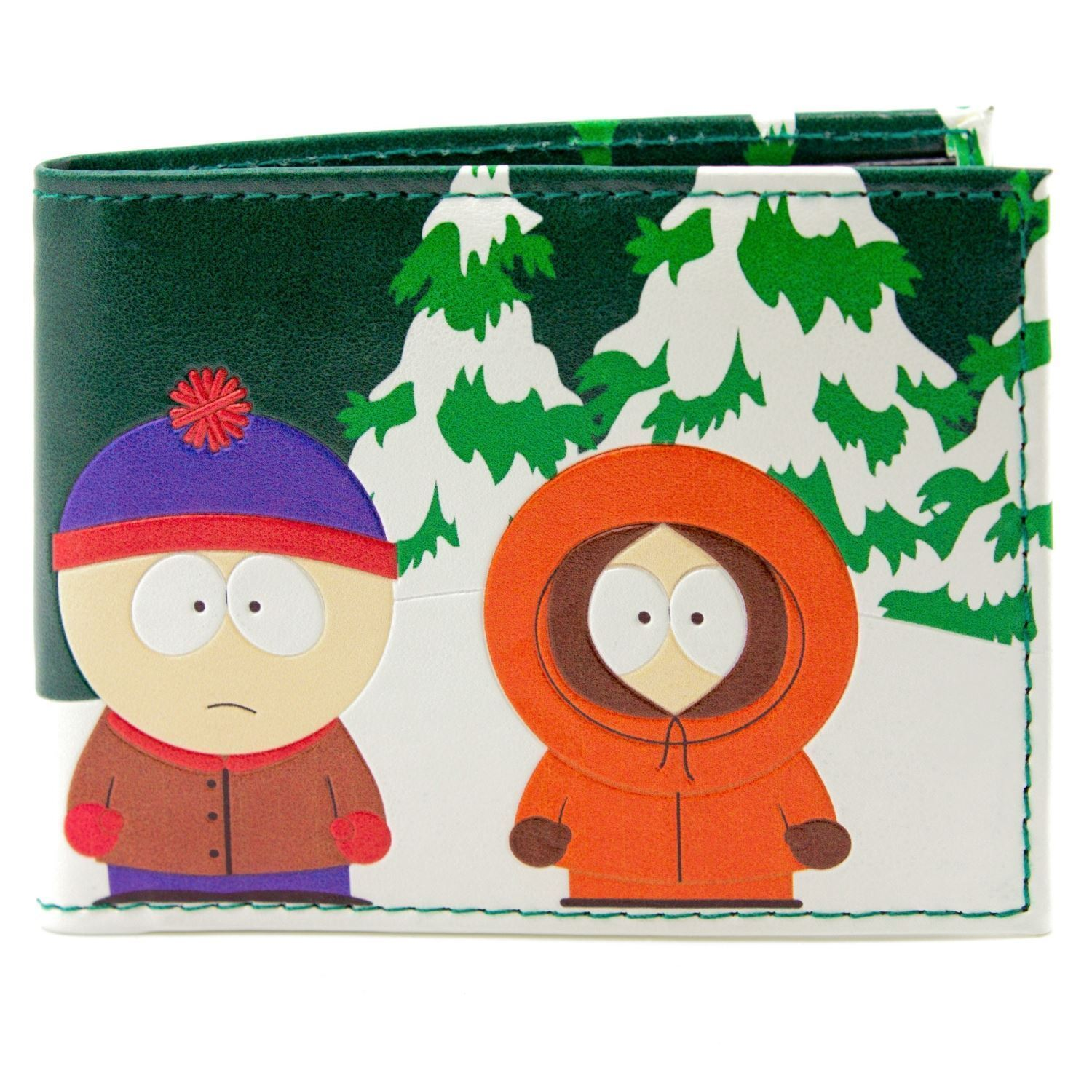 Official South Park Kyle Kenny Stan Cartman Green Id & Card Wallet *SECOND*