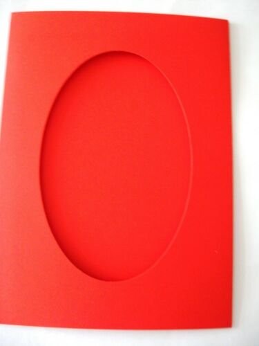 "Oval aperture cards 3 fold  8/"" x 6/""//150x205mm YOU PICK PACK SIZE /& COLOURS"