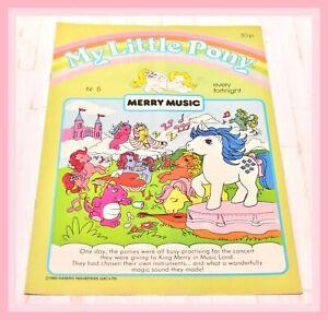 My-Little-Pony-G1-Merchandise-VTG-1985-Magazine-Comic-5-Merry-Music