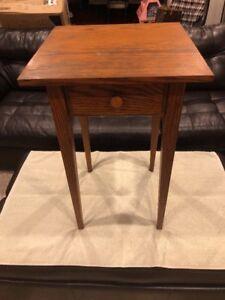Antique Vintage Oak Telephone Table
