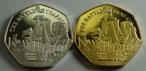VICE ADMIRAL HORATIO NELSON /& THE BATTLE OF TRAFALGAR Silver Gold Commemoratives