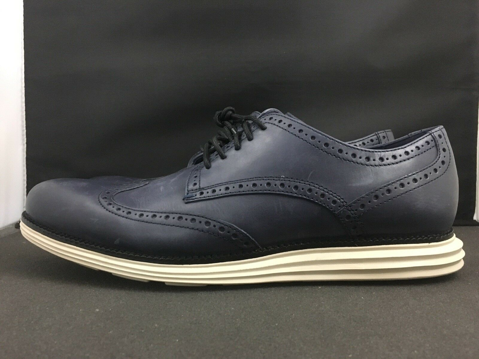 Cole Haan Men's  Navy blu Leather Original Grand Winspit Oxford scarpe Sz 11  qualità ufficiale