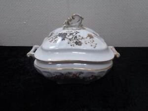 Antique-Porcelain-Pageantry-Tureen-Soupiere-Vintage-around-1900