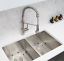 thumbnail 11 - Single Handle Pull Down Kitchen Faucet Brushed Nickel