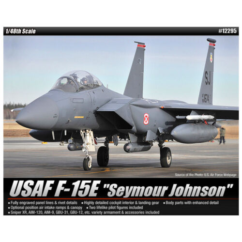ACADEMY #12295 1//48 Plastic Model Kit USAF F-15E Seymour Johnson