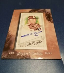 2018 Topps Allen & Ginter Mini Framed Dillon Peter's AUTO RC #MA-DP Marlins